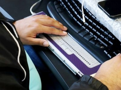 apple google microsoft braille display