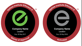 Uptime Institute Efficient IT stamps
