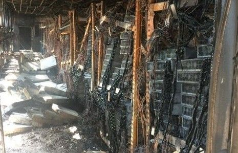 aftermath of a data center fire