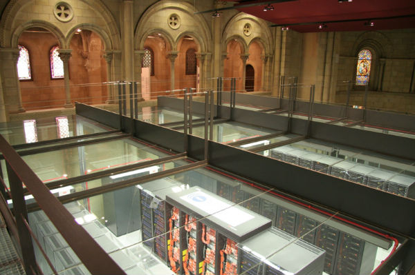 the barcelona supercomputing center data center in a chapel