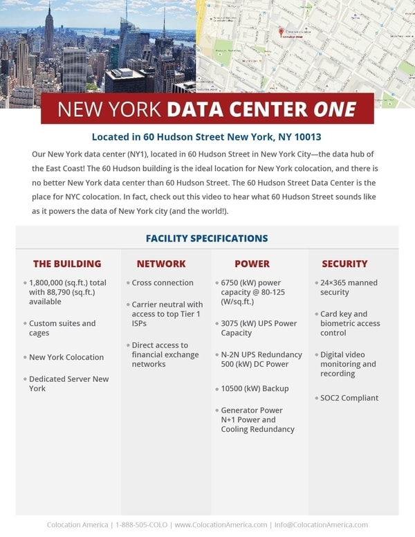 New york data center and colocation colocation america for 111 8th avenue 9th floor new york ny 10011