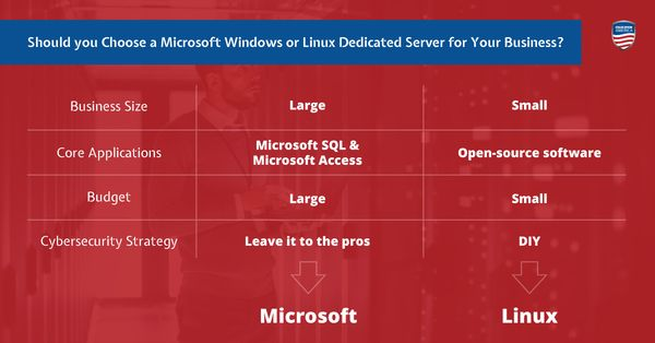 Should your Business Use a Windows or Linux Dedicated Server?