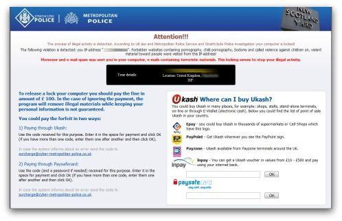 ransomware police warning