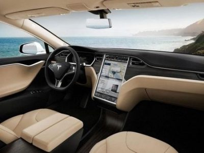 inside of a tesla car