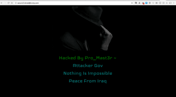 hack of trump site