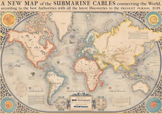 map of underwater internet cables