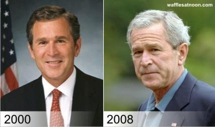 before after george w