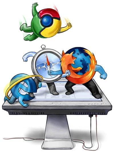 Web Browser War Google Chrome vs Internet Explorer Colocation