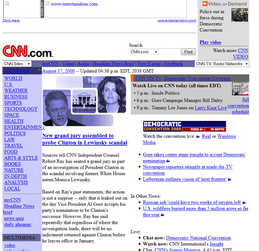 CNN.com Website