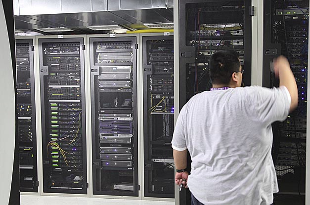 Inside a Los Angeles data center