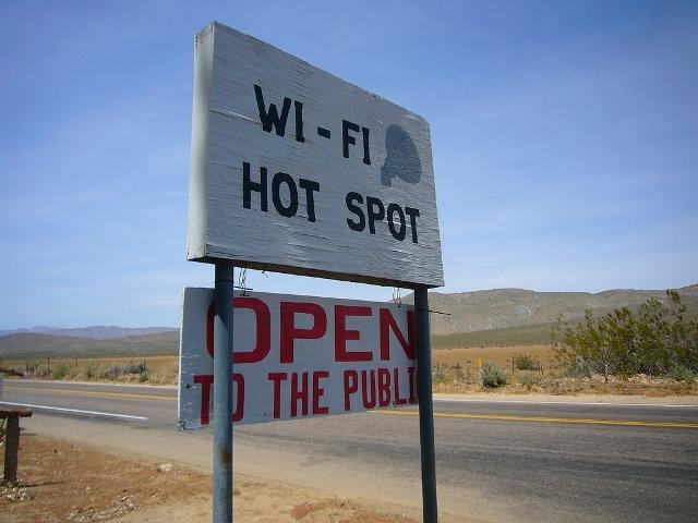 wi fi hot spot sign
