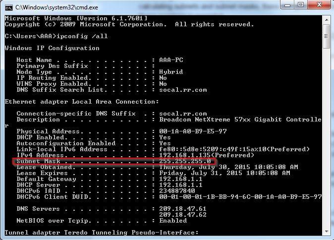 ip subnet classes