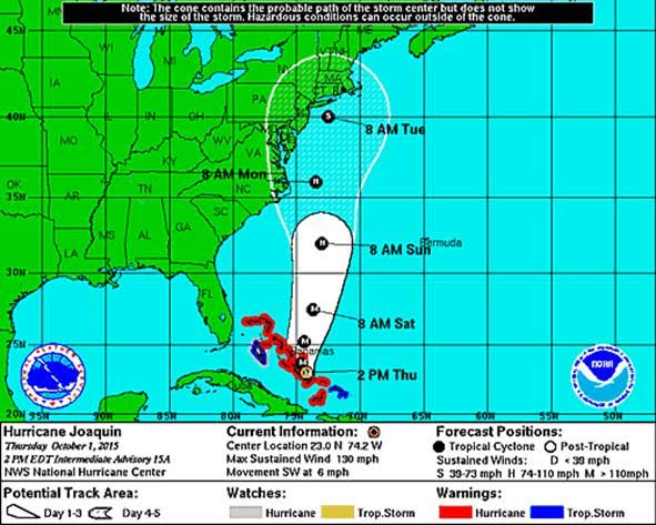 disaster recovery for hurricane joaquin