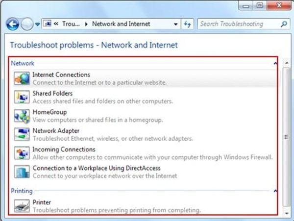 Windows Network Troubleshooter